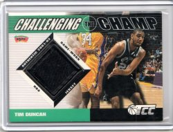 2001 Topps Champions and Contenders Tim Duncan Challenging the Champ