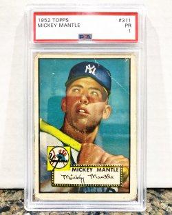 1952 Topps  Mickey Mantle PSA 1