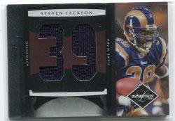 2008 Leaf Limited Steven Jackson Numbers Jersey