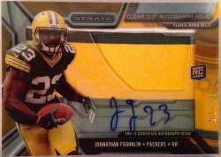 2013 Topps Strata  Clear Cut Rookie Auto Johnathan Franklin