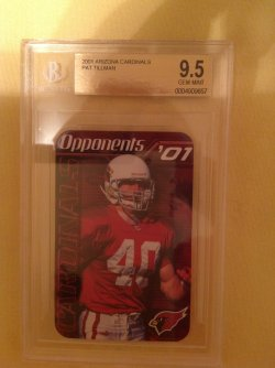 2001  Arizona Cardinals Pocket Schedule Pat Tillman