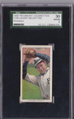 1909  T206 Piedmont 150 Harry McIntyre  Brooklyn