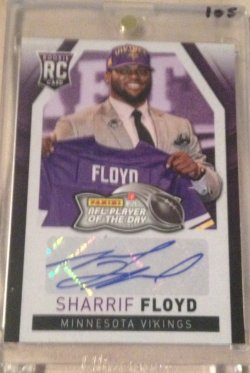 2013 Panini Player of the Day Sharrif Floyd Auto