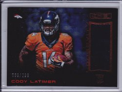 Cody Latimer 2014 R&S Longevity Rookie Materials Longevity Ruby /299