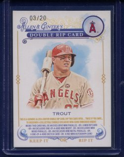 2014 Topps Allen & Ginter Dual Rip Mike Trout / Jose Fernandez