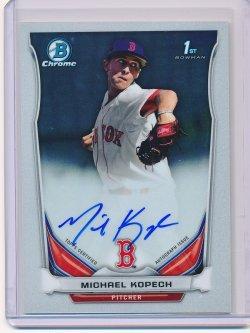 Michael Kopech 2014 Bowman Chrome Draft Draft Pick Autographs