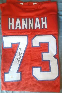 John Hannah JSA 91 HOF Inscription