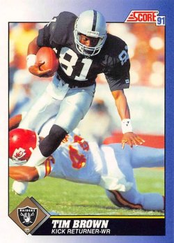 1991  Score Tim Brown