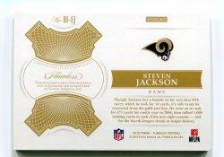 2018 Panini Flawless Steven Jackson Distinguished Patch Autographs Platinum Back