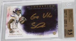 2015 Topps Inception Stefon Diggs Inscription Auto
