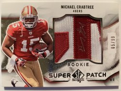 2009 Upper Deck SP Authentic Rookie Super Patch Autographs #RSPMC Michael Crabtree