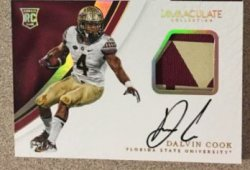 2017 Panini Immaculate Dalvin Cook Auto Patch