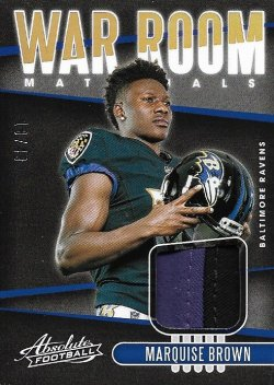 Marquise Brown 2019 Panini Absolute War Room Materials Prime 18 of 49
