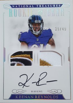 2016 Panini National Treasures Keenan Reynolds Rookie Gear Auto