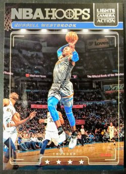 2018-19 Panini Hoops Lights Camera Action Russell Westbrook