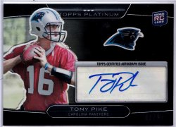 2010 Topps Platinum Black Refractor Tony Pike RC AU