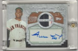 2013 Topps Series 2 Willie Mays The Greats Patch Autograph