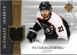 2006-07 Upper Deck Ultimate Collection Jerseys Peter Forsberg