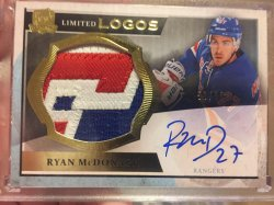 2013 Upper Deck The Cup Ryan McDonagh patch/auto
