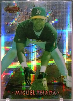 1997 Bowman Best Miguel Tejada atomic refractor