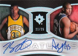 2007-08 Upper Deck Ultimate Collection Kevin Durant / Al Horford - Write of Passage Autographs Dual