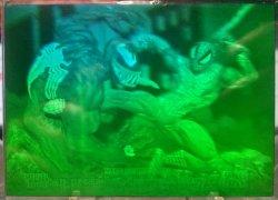 1993  Marvel Universe Series IV Spiderman vs Venom hologram