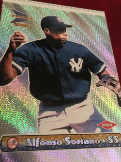2000  PACIFIC UNCUT Prism  ALFONSO SORIANO #102 NewYork Yankee RC AllStar SS