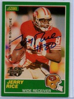 1999 Score 10th Anniversary Reprints Autographs Jerry Rice