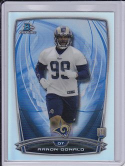 Aaron Donald 2014 Bowman Chrome Refractor RC