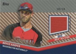Bryce Harper 2020 Topps Update All-Star Stitches Relics Silver