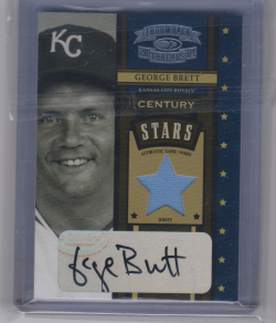 2004 Donruss throwback threads george brett century stars