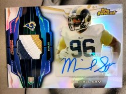 2014 Topps Finest Michael Sam Rookie Refractor Autograph Patch #3