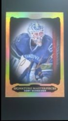 2012-13  Ultimate Collection Signature Masterpieces  #USM-CS Cory Schneider