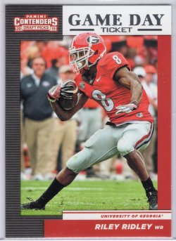 2019 Panini Contenders Draft Picks Riley Ridley Game Day Tickets