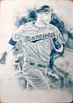 2017 Topps Inception Printing Plates Cyan Brian Dozier