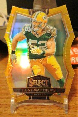2016 Panini Select Gold Die Cut Clay Matthews