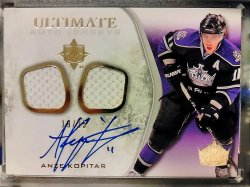 2010-11 Upper Deck Ultimate Collection Anze Kopitar Ultimate Auto Jersey