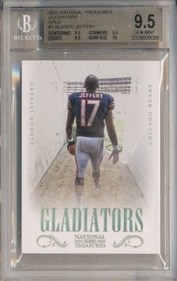 2012 Panini National Treasures Gladiators Gold #1 Alshon Jeffery