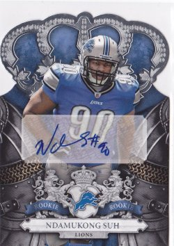 2010 Ndamukong Suh Crown Royale Die-Cut Auto RC  324/399  Lions A5716