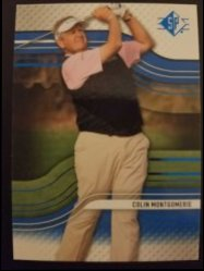 2012 Upper Deck SP Authentic Sapphire  Colin Montgomrie
