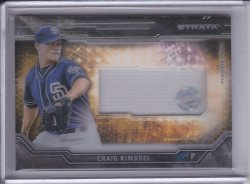 Craig Kimbrel 2015 Topps Strata Clearly Authentic Relics