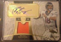 2013  Topps Supreme Peyton Manning Auto Patch