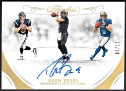 2018   Drew Brees Flawless Career Progressions Gold Parallel Auto #8/10