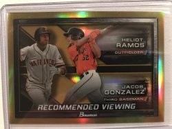 2017 Bowman Chrome Draft Recommended Viewing Gold Refractor Heliot Ramos Jacob Gonzalez