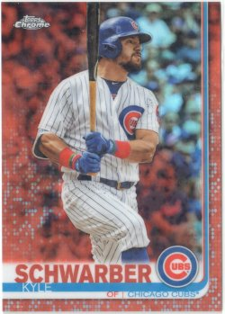 2019 Topps Chrome Orange Refractors Kyle Schwarber