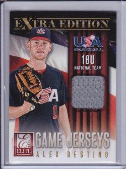 Alex Destino 2013 Elite Extra Edition USA Baseball 18U Game Jerseys