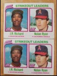 1980 Topps  Nolan Ryan / J. R. Richard