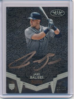 Jake Bauers 2019 Topps Tier One Break Out Autographs Bronze Ink /25