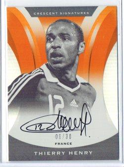 2016-17 Panini Nobility Thierry Henry Orange Crescent Signatures Autograph