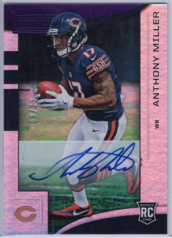 2018 Panini Rookies and Stars Anthony Miller Rookies Longevity Signatures Purple
